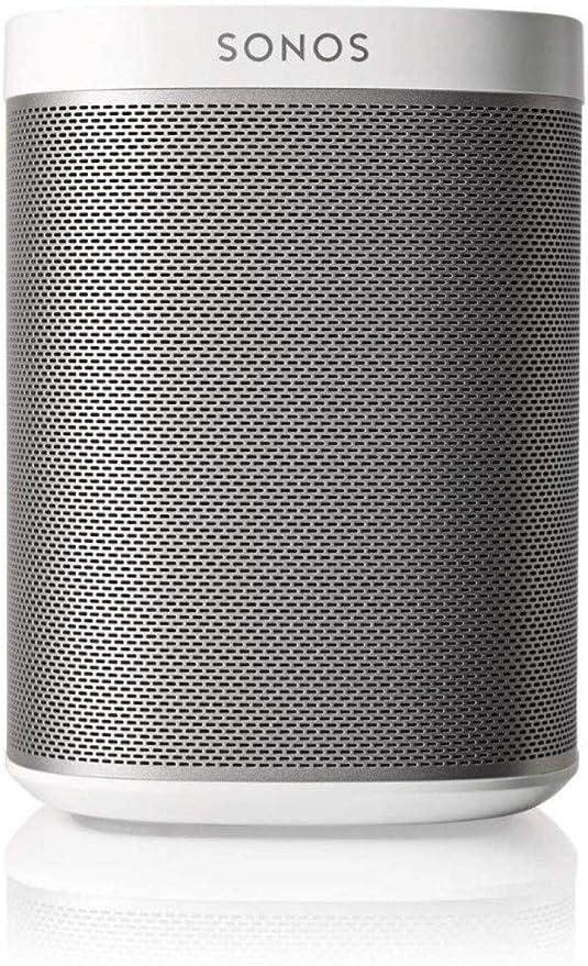 Sonos Play: 1 - Altavoz inteligente compatible con dispositivos Amazon Echo, cabe en cualquier sitio debido a su tamaño y es resistente a la humedad, color blanco
