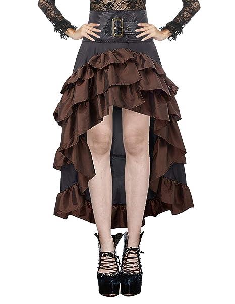 Amazon.com: Skirt con falda de burbusto, estilo gótico ...