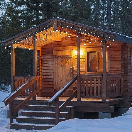 MultiStore 2002 Luz Cortina Guirnalda – 180 LED s, 52 x b585 cm, 8 Efectos de luz, luz Blanca cálida para Interior y Exterior – Decoración navideña: Amazon.es: Hogar