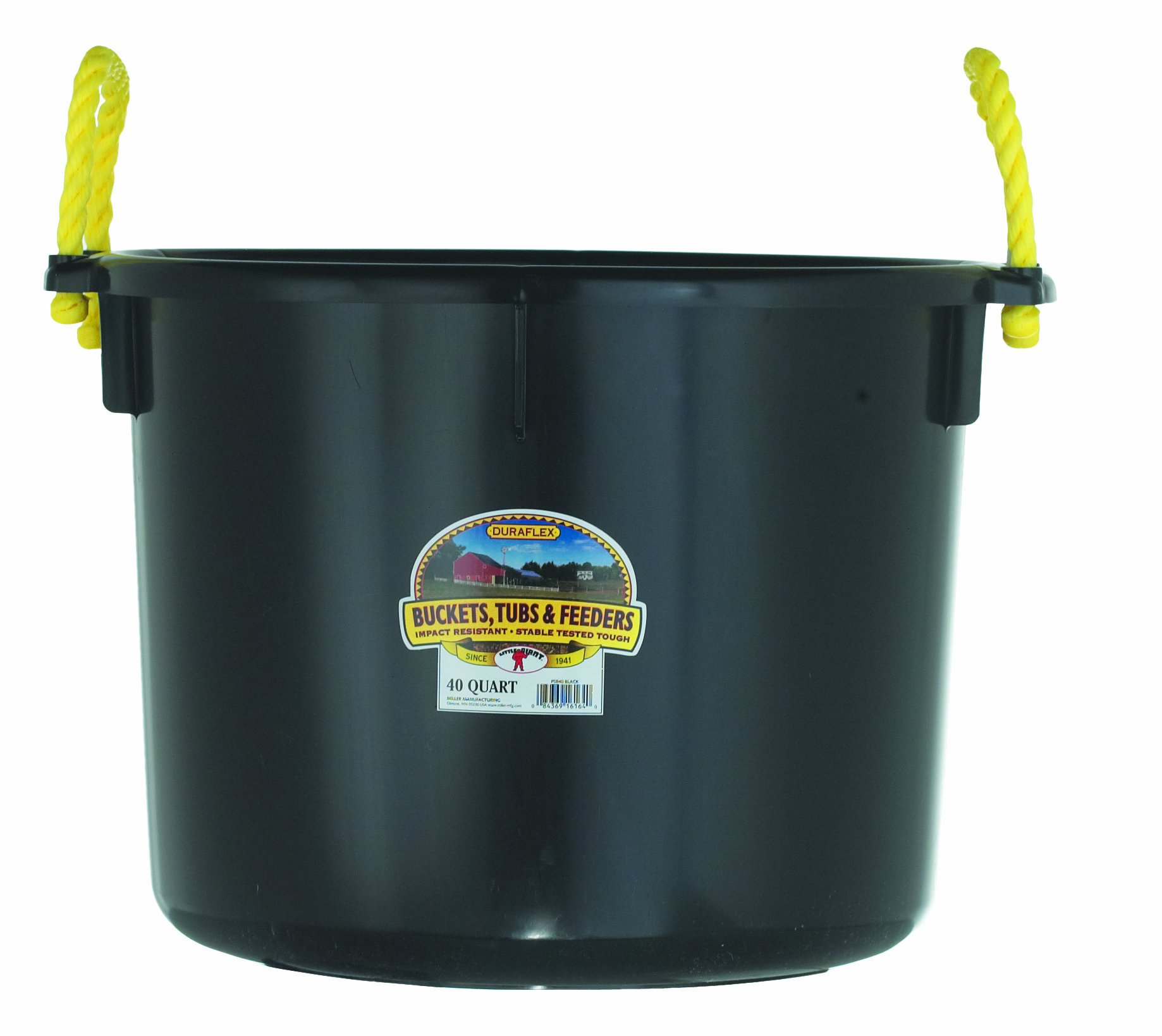 Little Giant Farm & Ag Miller Manufacturing PSB40BLACK 40-Quart Black Muck Tub by Little Giant Farm & Ag