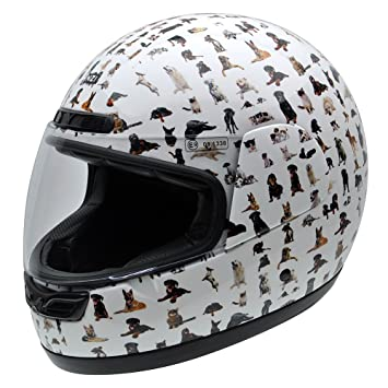 NZI 050290G709 Class Jr Graphics Bestfriends Casco de Moto, Diseño Animales, Talla 54 (