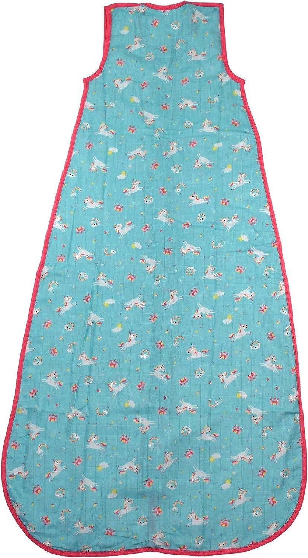 Slumbersac Summer Baby Sleeping Bag 0.5 Tog 6-18 months//90cm Bamboo Muslin Unicorn