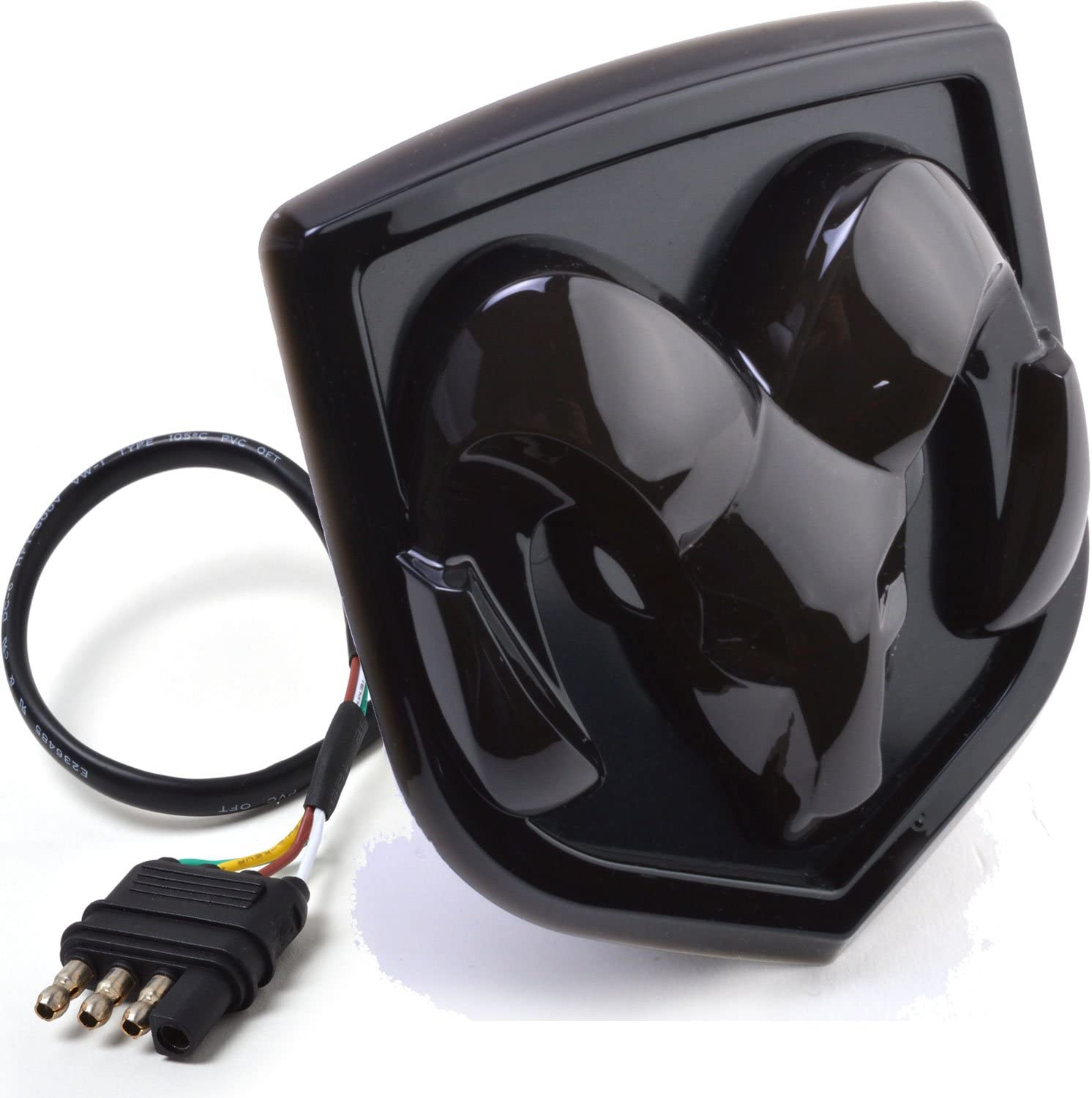 Bosswell LED Lighted Hitch Cover for Dodge RAM Truck Trailer Towing Receiver Black Fits All 1.25 /& 2 Receiver