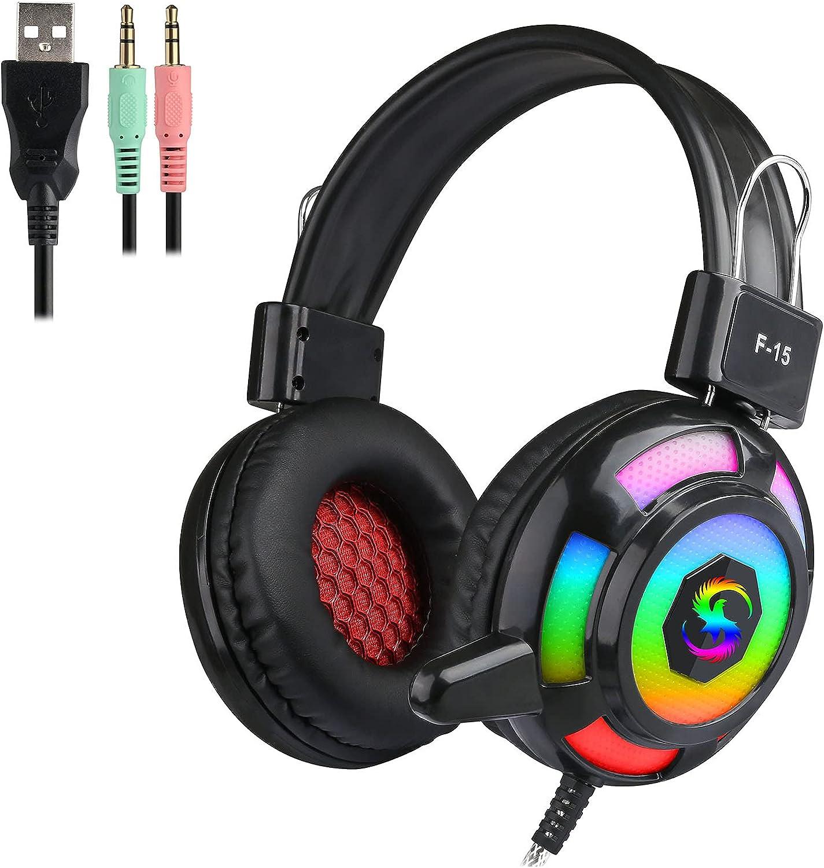 Auriculares Docooler con luces RGB y micrófono por sólo 14,99€ usando el #código: Z478Y8P6