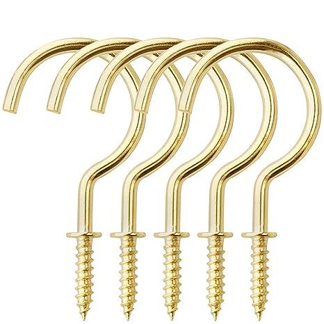 Amazon.com: BronaGrand 20 piezas de tornillos en ganchos de ...