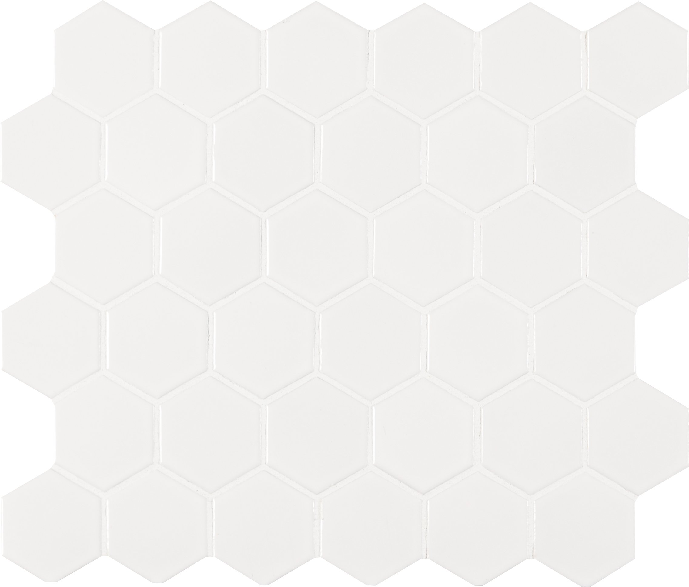 MS International AMZ-MD-00185 White Hexagon Tile, 10.875in. x 12.625in, 20 Piece