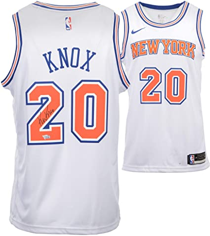 51489c3a03e9 Kevin Knox New York Knicks Autographed White Nike Swingman Jersey -  Fanatics Authentic Certified - Autographed