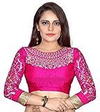 Bollywood Designer Women's silk Dress Material (_Pink_)