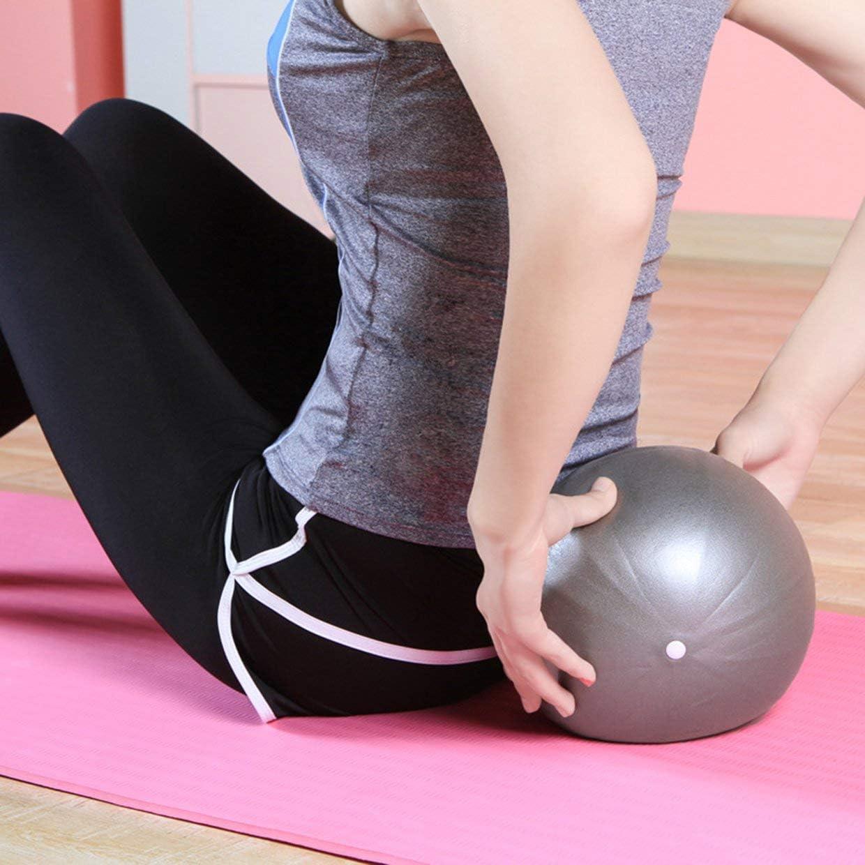 grau MXECO Kleine Yoga Fitness Ball Professionelle rutschfeste Yoga B/älle Balance Sport Fitball Proof Ball F/ür Heimtraining