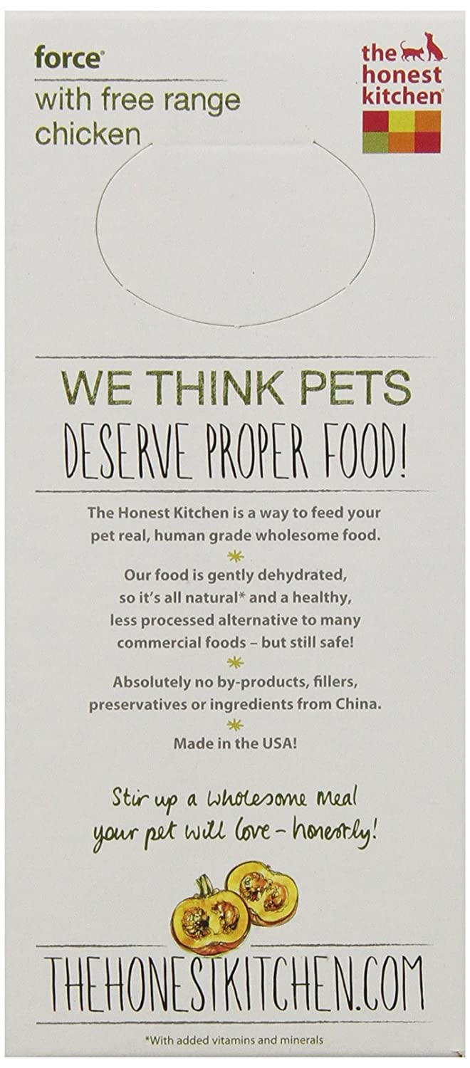 The Honest Kitchen Force Grain Free Dog Food   Natural Human Grade  Dehydrated Dog Food, Chicken, 2 Lbs (Makes 8 Lbs): Pet Supplies: Amazon.com