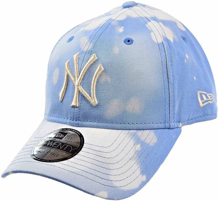 523e127ec5f New Era New York Yankees Bleached Out 9Twenty Men s Strapback Hat Cap Blue White  11520520