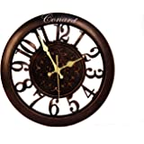 Tna Antique Design Round Wall Clock With Glass (28 Cms)