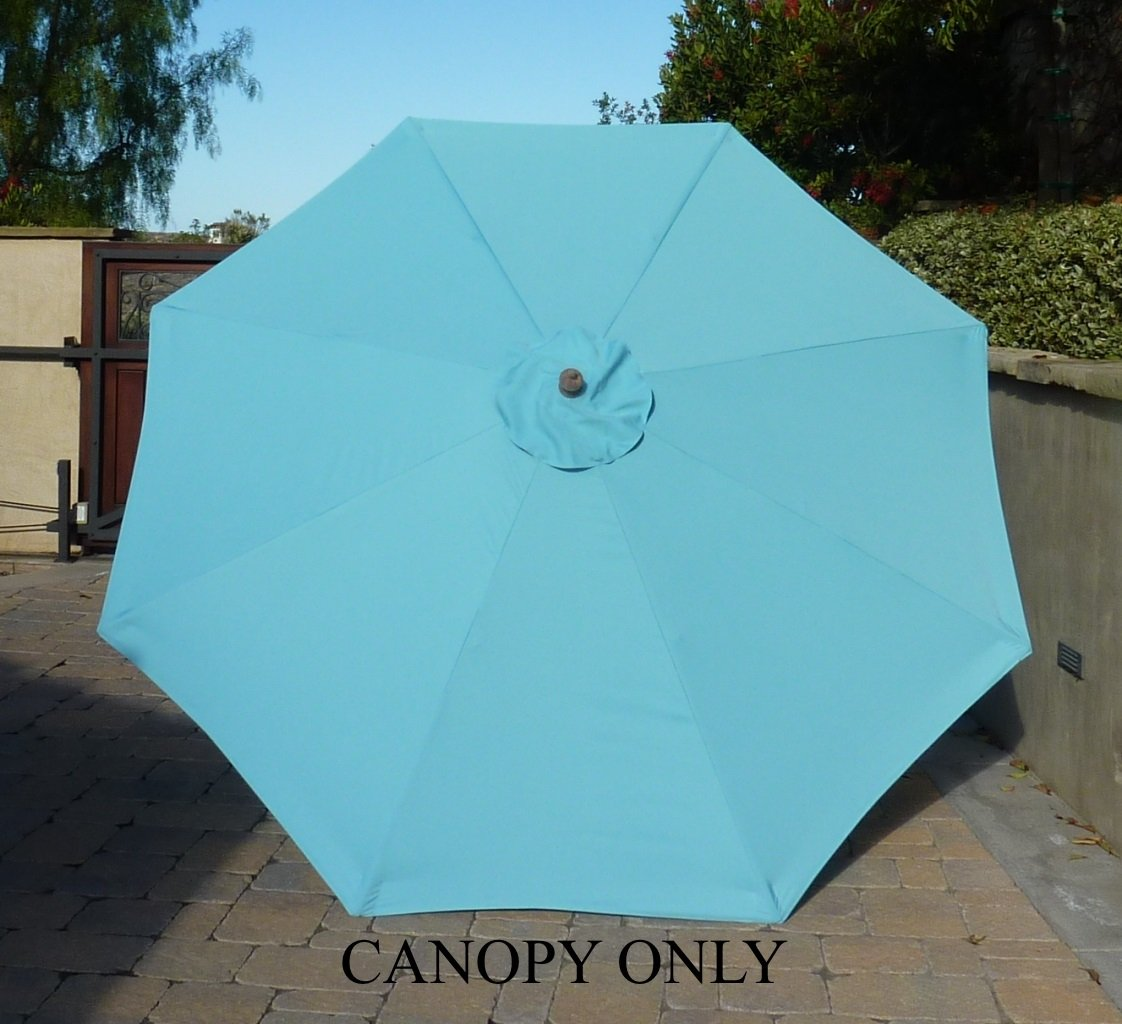 Amazon.com : 9ft Umbrella Replacement Canopy 8 Ribs In Light Blue (Canopy  Only) : Outdoor And Patio Furniture Accessories : Garden U0026 Outdoor