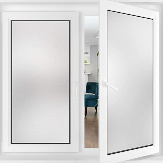 17.7 x 78.7 Non-Adhesive Matte White Opaque Static Cling Heat Control Door Sticker for Home Office Living Room Frosted Removable Glass Covering for Bathroom typumpkin Window Privacy Film