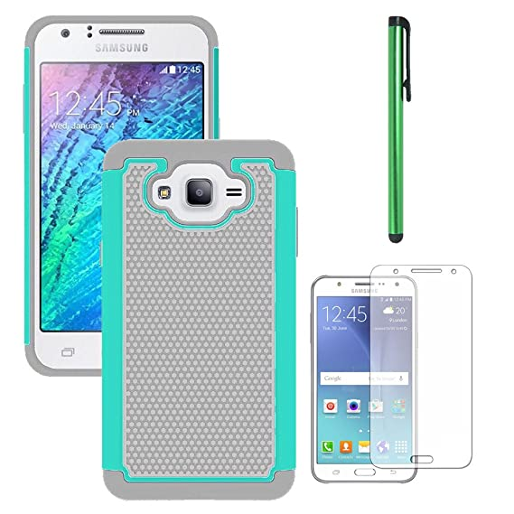 new style 4bb30 ed3f0 Galaxy J7 Neo J701M/J7 Nxt J701F/J7 Core J701 Case, With Screen Protector,  Telegaming Dual Layer Armor Case Drop Protection TPU & Hard PC Back Cover  ...