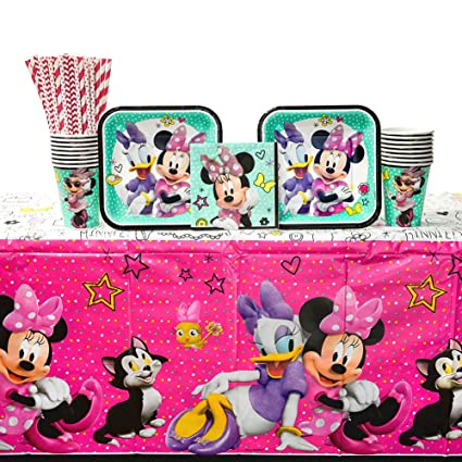 Amazon.com: Minnie mouse feliz fiesta Helpers suministros ...