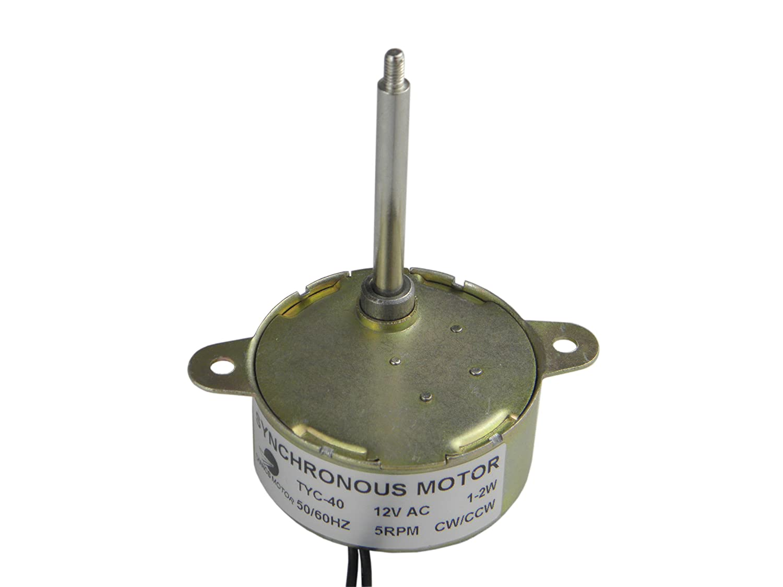 CHANCS Motorreductor Motor sincrónico TYC-40 AC 12V 5 RPM Motor de ...