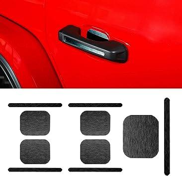 For Jeep Wrangler JL 2018 2019 Carbon Fiber Inner Door Safe Lock Key Cover Trim
