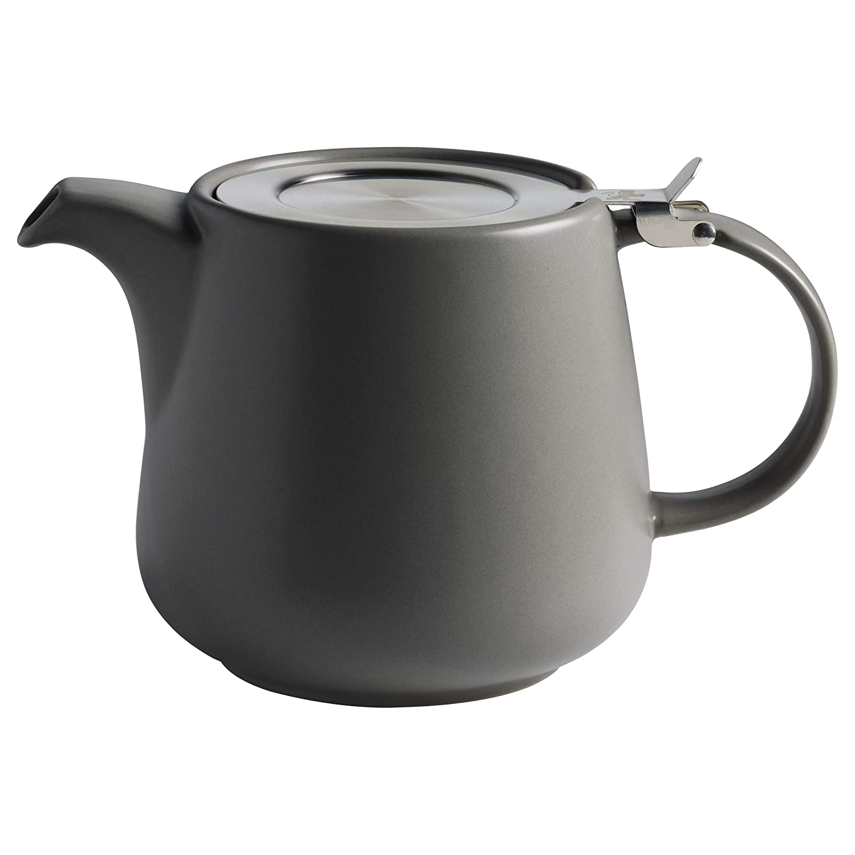 Maxwell & Williams Tint Teekanne 1200 ml, Dunkelgrau, Keramik/Edelstahl