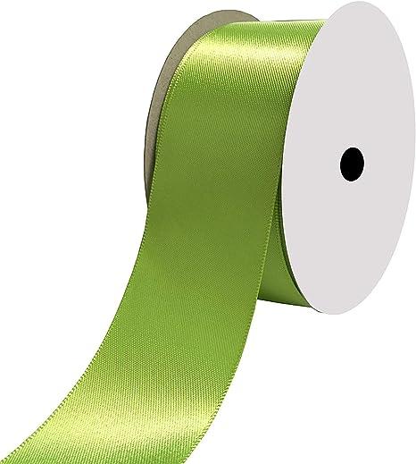 DUOQU 1//2 inch Wide Shimmer Sheer Organza Ribbon 50 Yards Apple Green