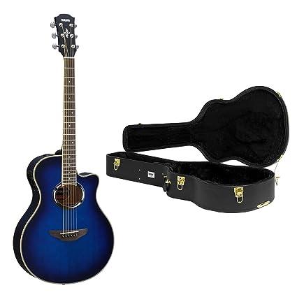 Yamaha apx500iii – Guitarra acústica/eléctrica azul con Knox carcasa Funda
