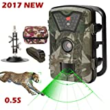 Amazon Price History for:Game Trail Camera 1080P 12MP with Sound Scouting Camera with 2.4in LCD Screen No Glow Black Infrared Night Vision 0.5s Trigger Speed IP66 Waterproof for Wildlife Hunting Monitoring and Farm Security