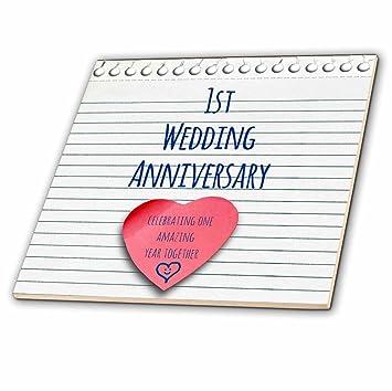 3drose 1 Hochzeitstag Geschenk Papier Feiern 1 Jahr