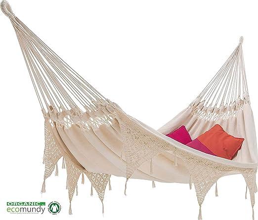 ECOMUNDY Ibiza BIO XL 380 blanco - hamaca de lujo clásico con ...