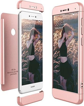 CE-Link Cover Huawei P8 Lite 2017 360 Gradi Full Body Protezione, Custodia Huawei P8 Lite 2017 Silicone 3 in 1 Antishock e Antiurto, P8 Lite 2017 Case ...