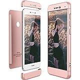 CE-Link Cover Huawei P8 Lite 2017 360 Gradi Full Body Protezione, Custodia Huawei P8 Lite 2017 Silicone Rigida Snap On Struttura 3 in 1 Antishock e Antiurto, P8 Lite 2017 Case Antigraffio Molto Elegante - Rosa