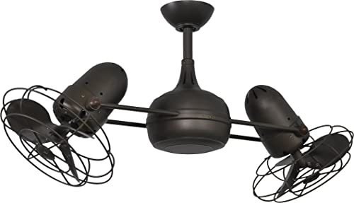 Matthews DG-TB-MTL Ceiling Fan with Light