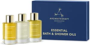 Aromatherapy Associates Essential Bath & Shower Oil Mother's Day Gift Collection (3 Count of 0.3 Fl Oz), 0.9 Fl Oz containing Deep Relax, De-Stress Mind and Revive Morning Bath and Shower Oils.