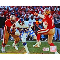 $85 » Lawrence Taylor Autographed NY Giants Vs 49ers 8X10 FP Photo HOF- Beckett W Blue