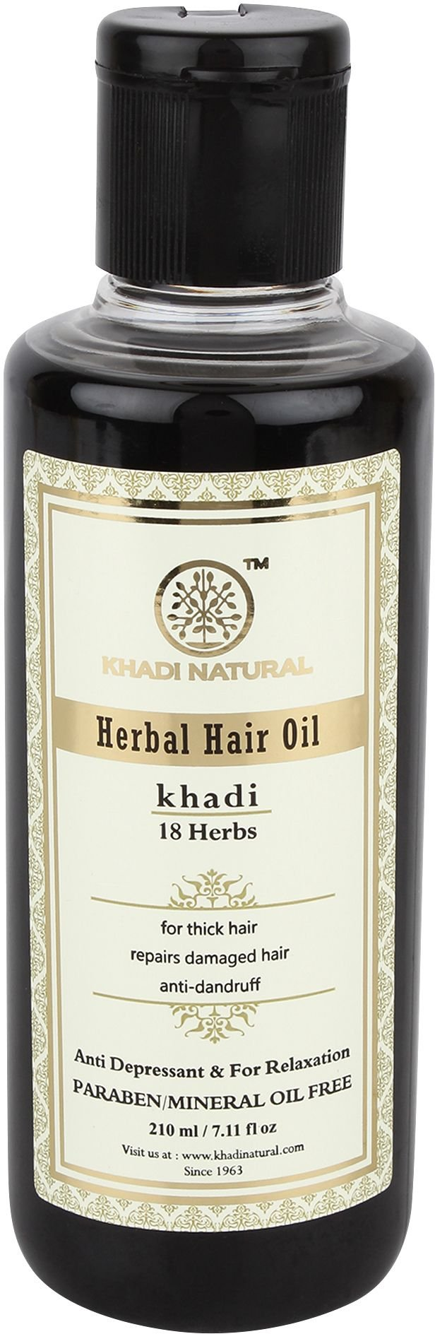 Khadi Natural Ayurvedic Herbal 18 Herbs Hair Oil for Strong Smooth Hair (210 ml)