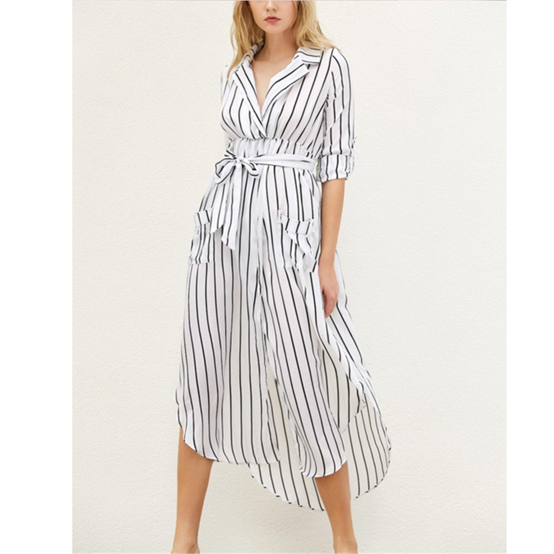 Henraly Women Shirt Striped Plus Size Ukraine Boho Robe Femme Sexy Vintage at Amazon Womens Clothing store: