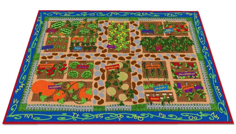 Kid Carpet Rectangle Garden Of Good Health Rug, 7'6'' x 12' by Kid Carpet (Image #1)