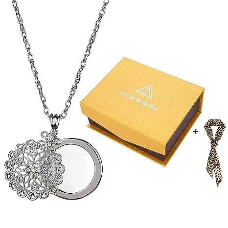 Amazon.com: Lupa colgante de cadena con lupa para leer, 5 ...