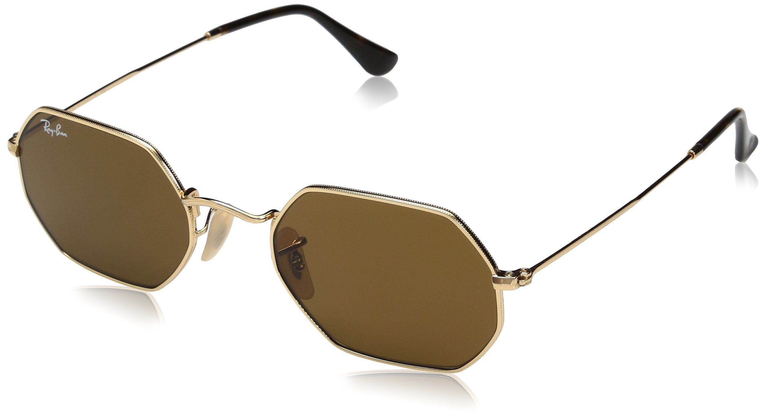 Ray-Ban Metal Unisex Oval Sunglasses, Gold, 53 mm by Ray-Ban