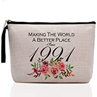 30th Birthday Gifts for Women-Making The World A Better Place Since 1991, 30 Years Old Makeup Bag for Her, Friend, Mom…