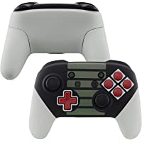 eXtremeRate Soft Touch Faceplate Backplate Handles for Switch Pro Controller, Classic NES Style Replacement Shell Case…