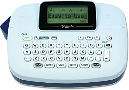 BROTHER P-Touch Handy Label Maker Negro Plata Impresora de Etiquetas Labeler