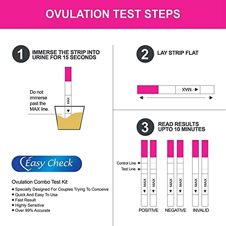 Amazon Com Easy To Use Ovulation Test Strips And Pregnancy Test