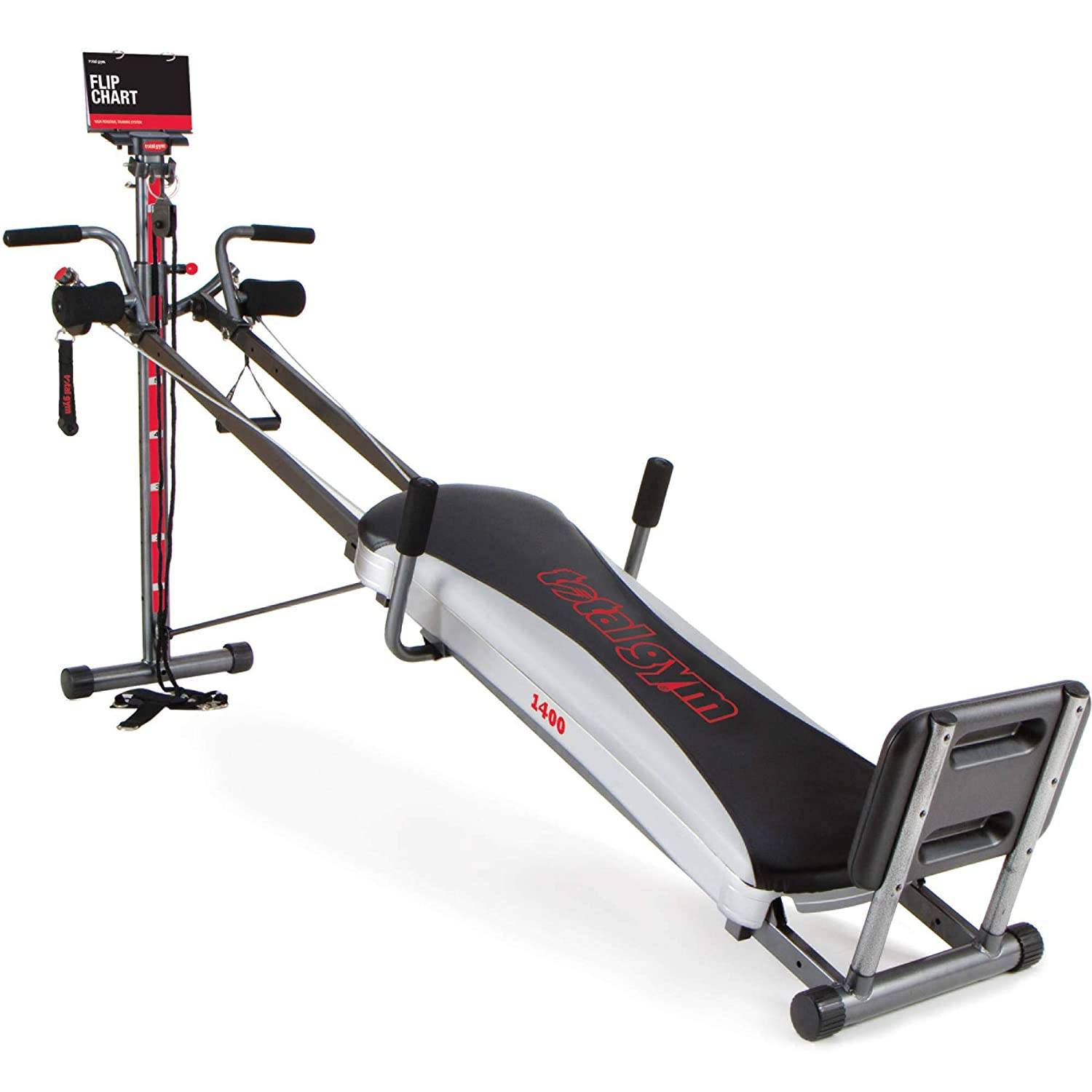 Amazon.com : Total Gym 1400 Deluxe Home Fitness Exercise Machine Equipment  with Workout DVD : Exercise Weights : Sports & Outdoors