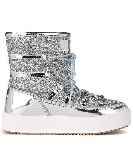 premium selection 0f78c 415c9 Chiara Ferragni Collection Moon Boot Glitter Argento - 38 ...