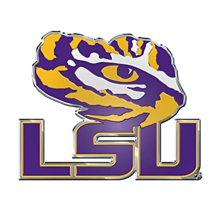 Amazon.com   LSU Tigers 3D COLOR Chrome Auto Emblem Home Decal ... 29570f505