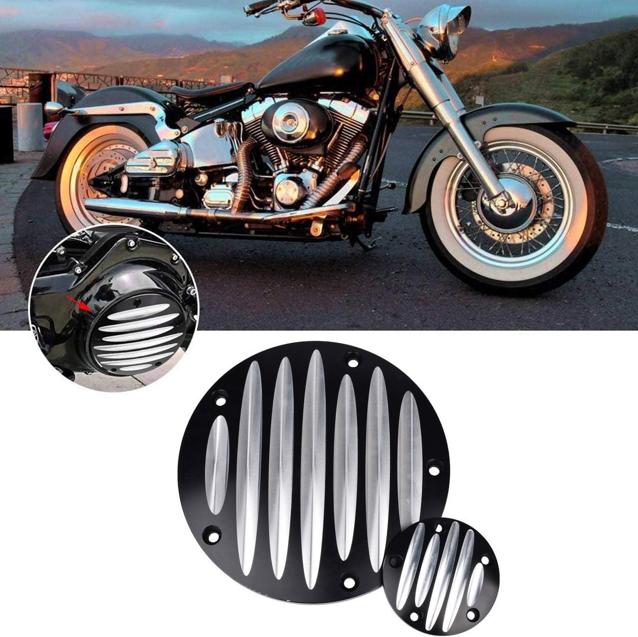 Tuincyn Chrom Motorrad Timing Zubehör Timer Abdeckung Und Punkte Abdeckungen Für Harley Davidson Touring Flhr Flstf Fxd Fld Dyna 1 Stück Auto