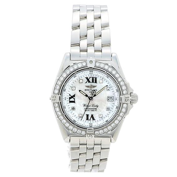 Breitling alas cuarzo mujer reloj A67350 (Certificado) de segunda mano: Breitling: Amazon.es: Relojes