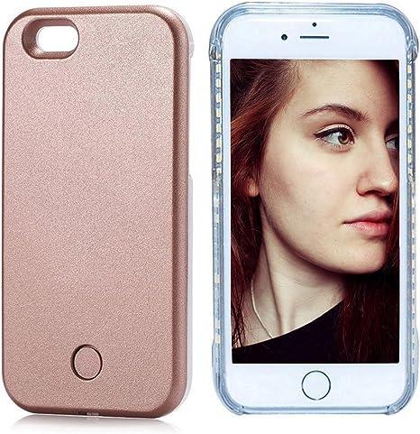 Amazon.com: fullopto iPhone 6 6S Plus selfie Luz carcasa ...