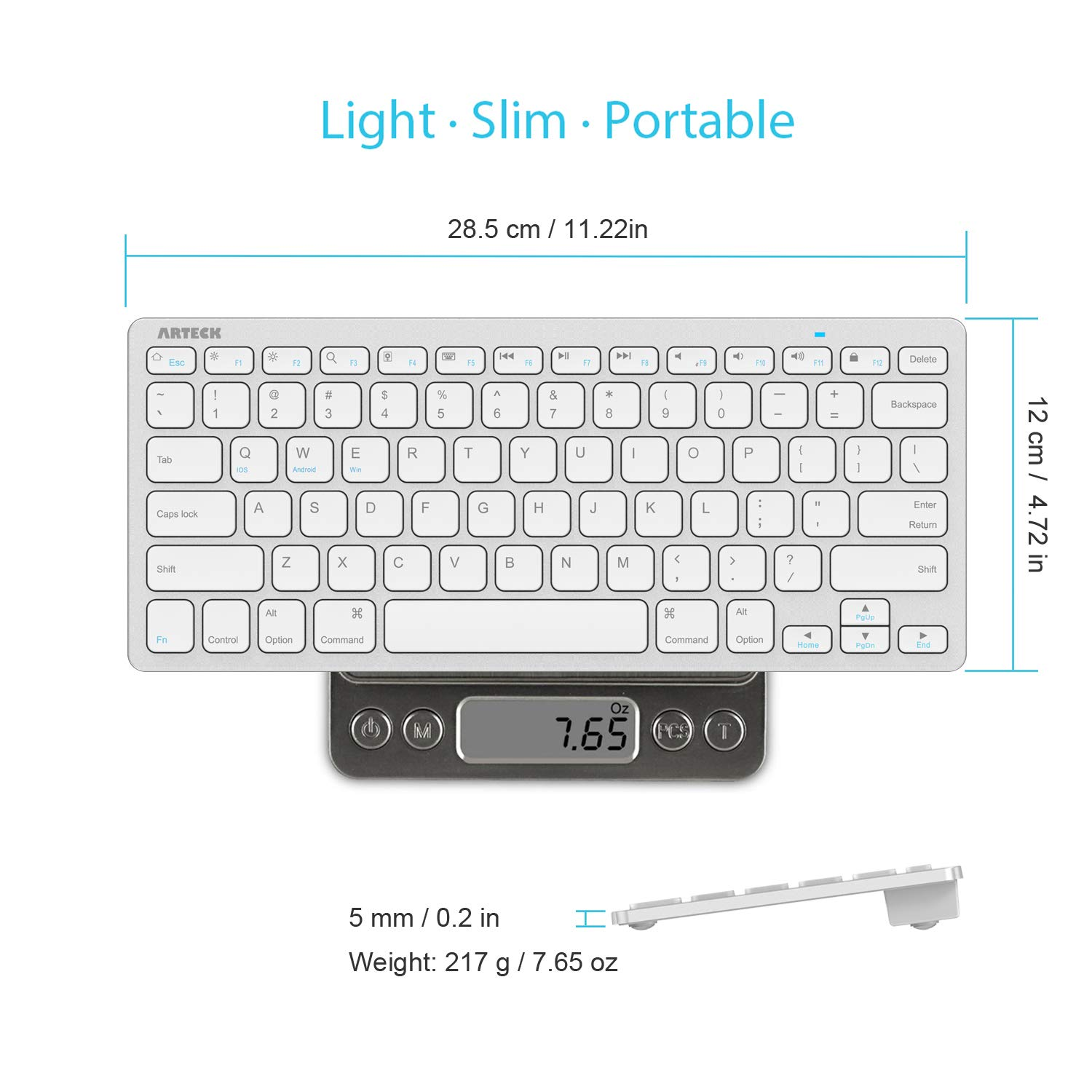 iPhone and Other Bluetooth Enabled Devices Including iOS ipad Keyboard,Bluetooth Keyboard for ipad,Wireless Keyboard for iPad pro//iPad Air//iPad//iPad Pro//iPad Mini Black Windows Android