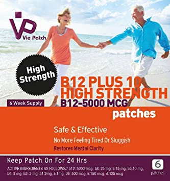 Viepatch vitamina B12 Plus 10 alta resistencia parches 5000mcg: Amazon.es: Electrónica